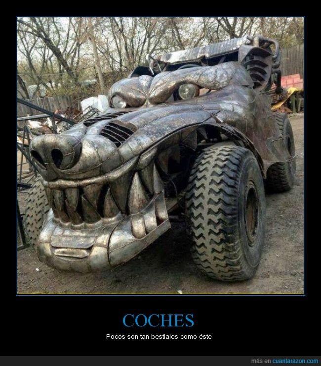aterrador,bestia,coche,dragon,Mad Max,metal,metalico