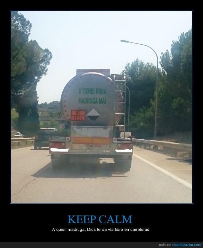 camión,carretera,coches,madrugar,prisa