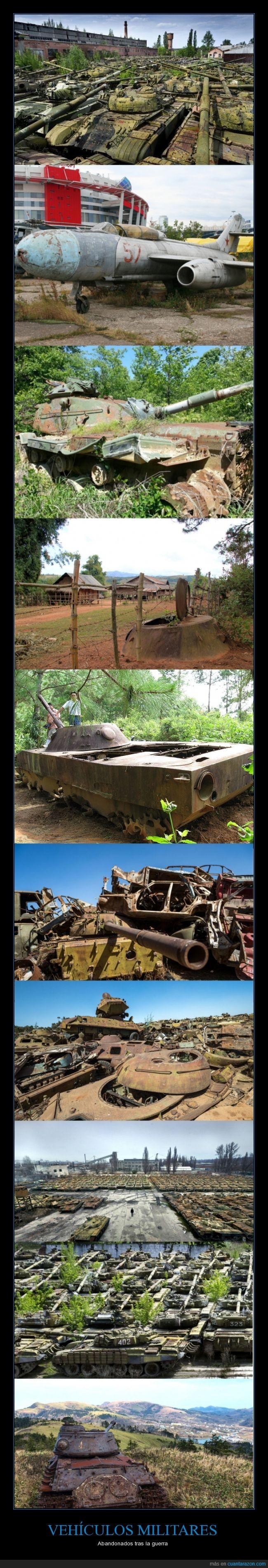 abandonados,cementerio,guerra,olvidados,tanques