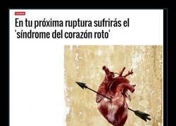 Enlace a Puedes morirte de un ''corazón roto''