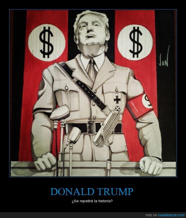 Arte,democracia,dibujo,dinero,Hitler,memes,politica,trump,votaciones