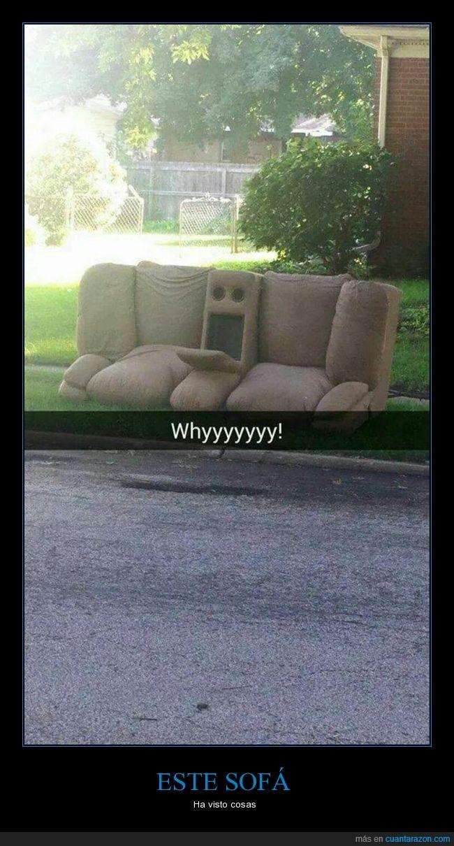 basura,cara,cosas,sofa,tirar