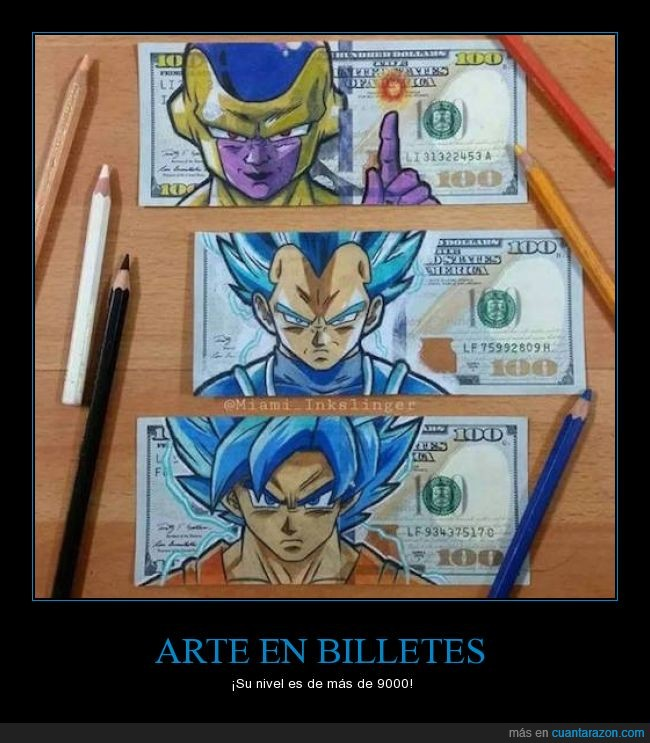 billete,dbz,dinero,freezer,goku,super saiyan,vegeta