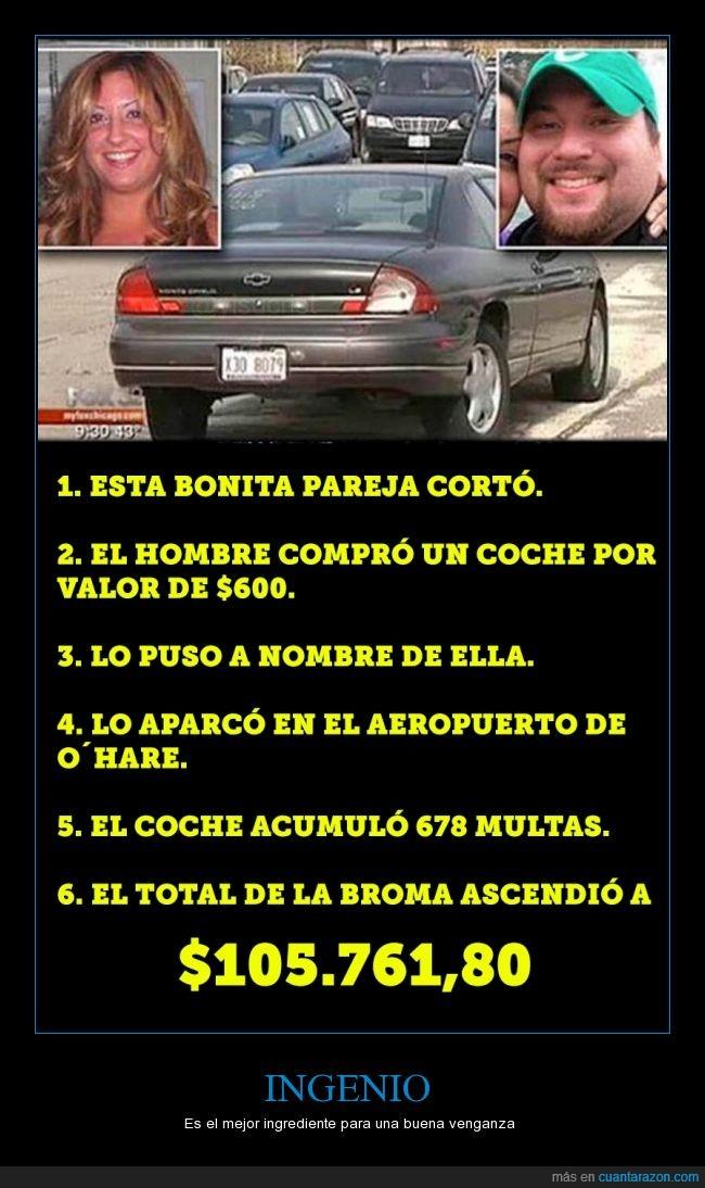 aeropuerto,aparcar,coche,dinero,mujer,multas,venganza