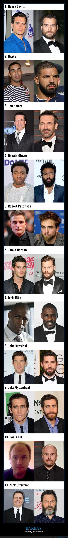 barba,cara,hombres,maquillaje,pelo