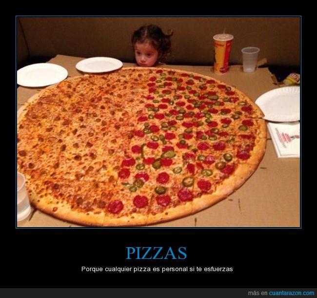 gigante,niña,personal,pizza,wtf
