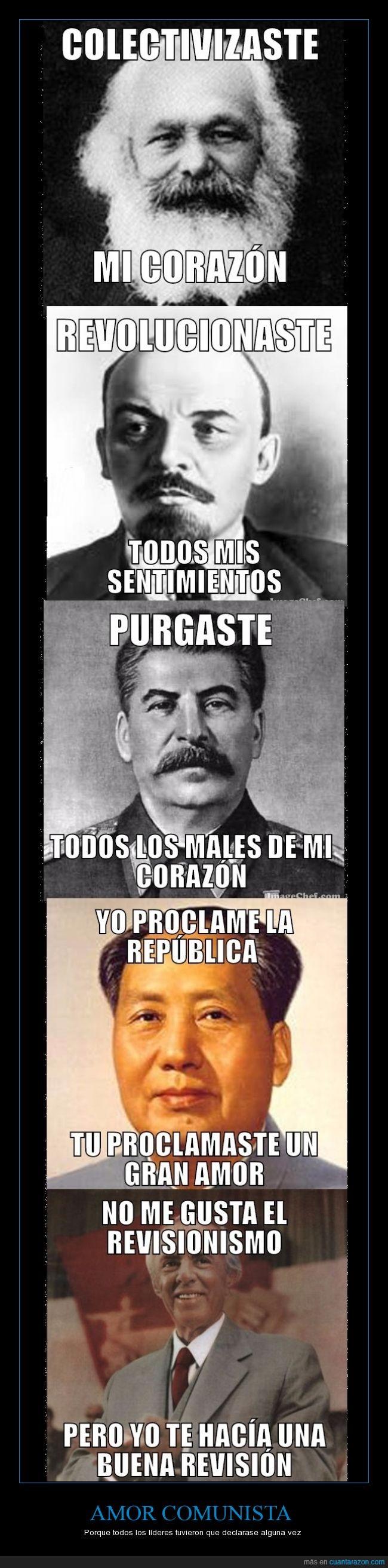 Amor,Comunismo,Hoxha,Mao,Marx. Lenin,Stalin
