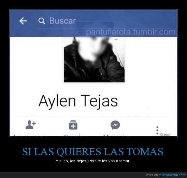 Aylen Tejas,Facebook,hay lentejas,macarrones,nombre