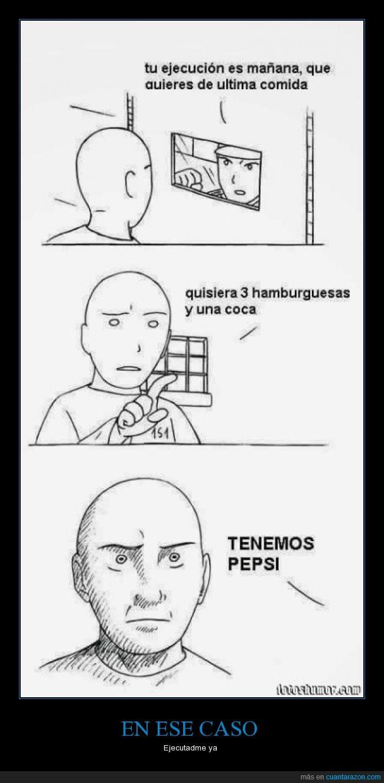 cocacola,ejecución,hamburguesa,no,nooo,pepsi