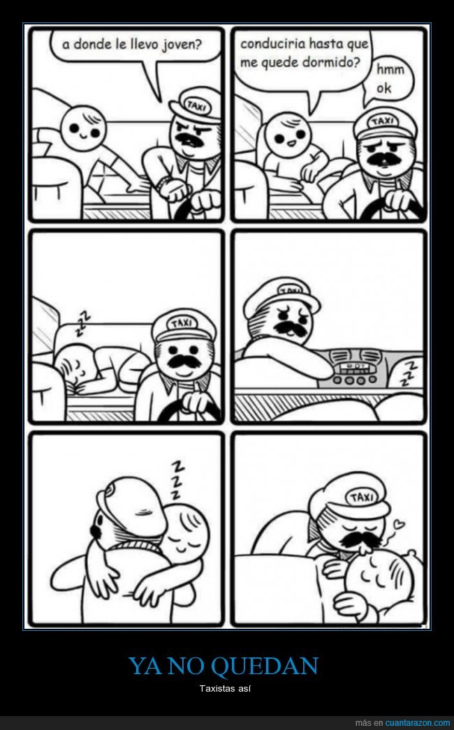 dormir,pasajero,Taxista