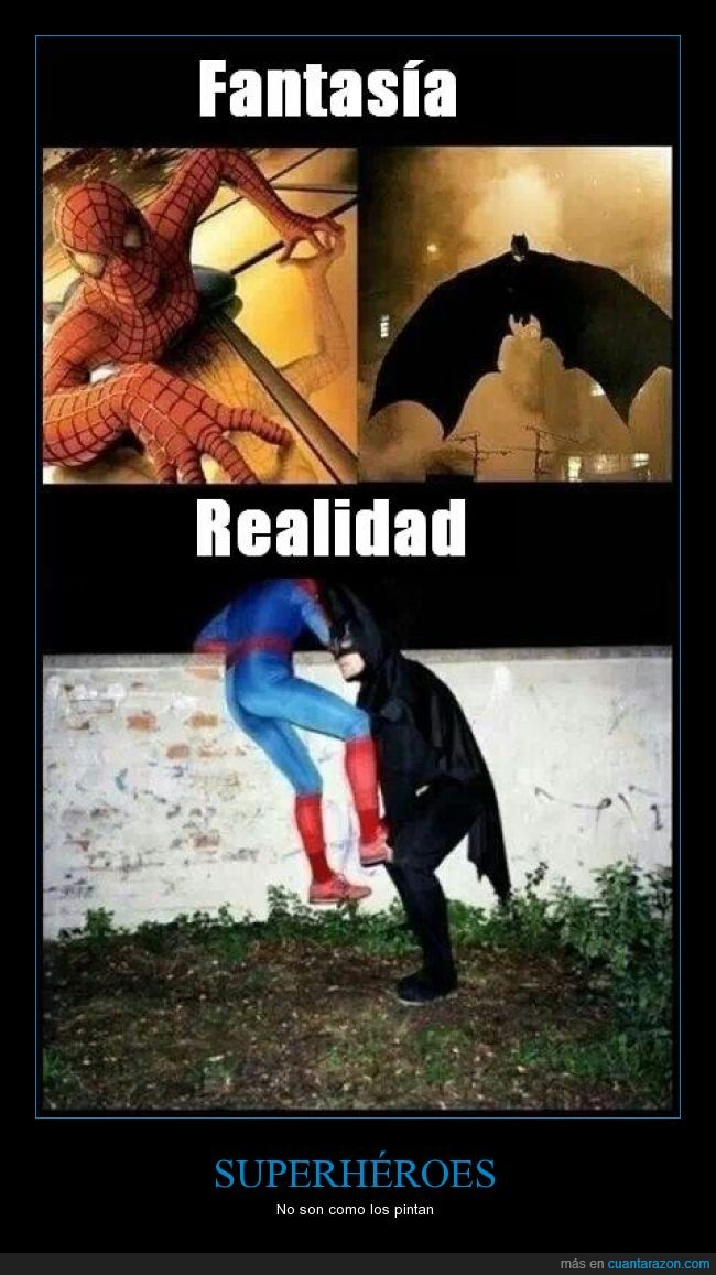 ayudar,batman,fail,muro,spiderman,subir,superheroe