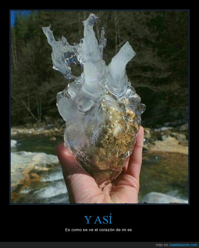 corazon,ex,helado,hielo