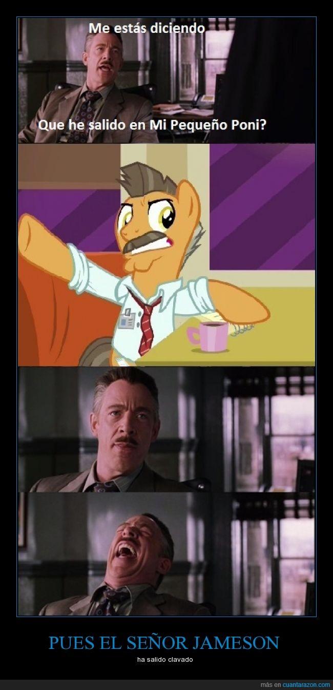 Jameson,mi pequeño poni,mlp,parodia,poni,spiderman