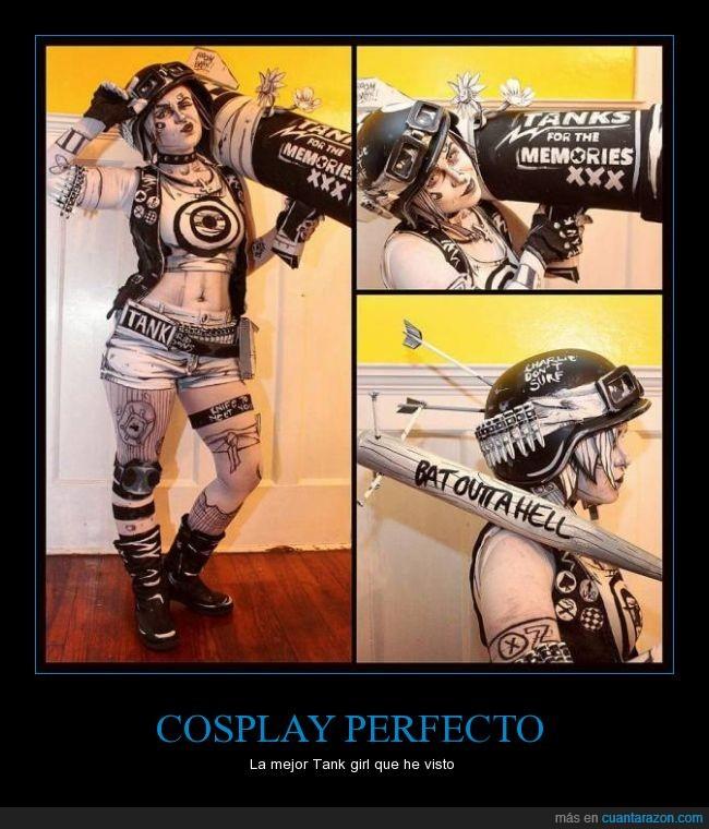cosplay,maquillaje,Tank Girl