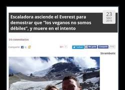 Enlace a Vegana sube al Everest para demostrar que los veganos son fuertes y muere en el intento