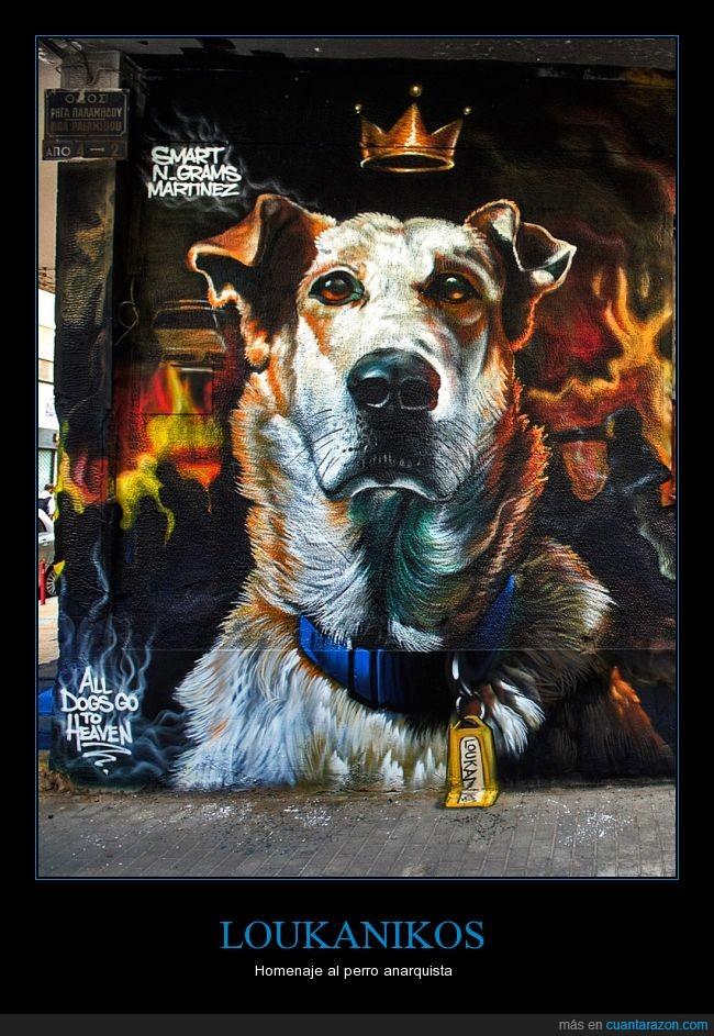 anarquista,grecia,Loukanikos,perro
