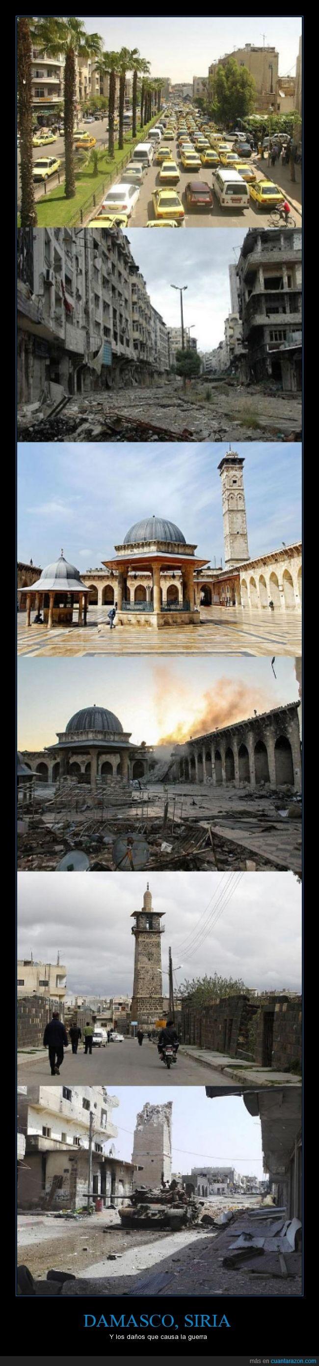 ciudad,damasco,daños,edificio,guerra,mal,Siria
