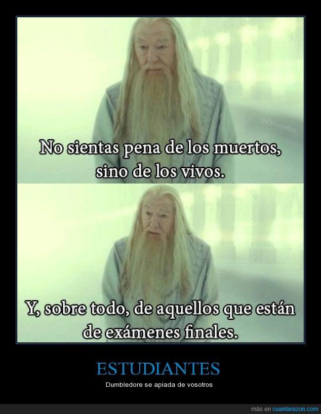 dumbledore,estudios,exámenes finales,muertos,vivos