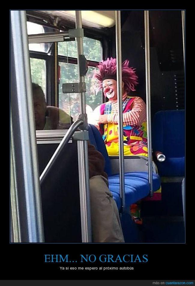 autobus,disfraz,miedo,payaso