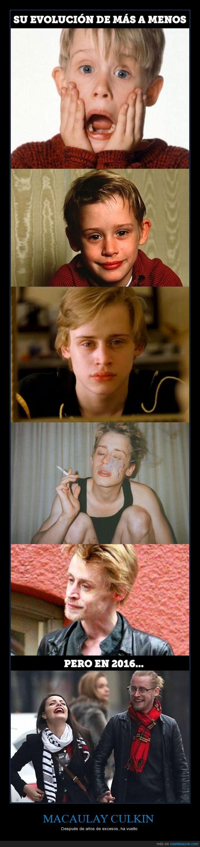 drogas,Macaulay Culkin,resucitado,saludable,solo en casa