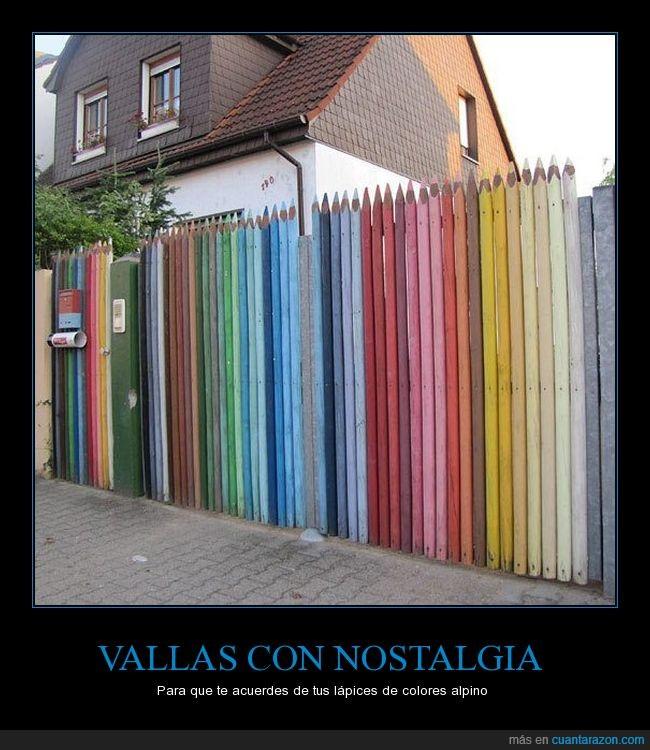 arcoiris,colores,lapices,madera,valla
