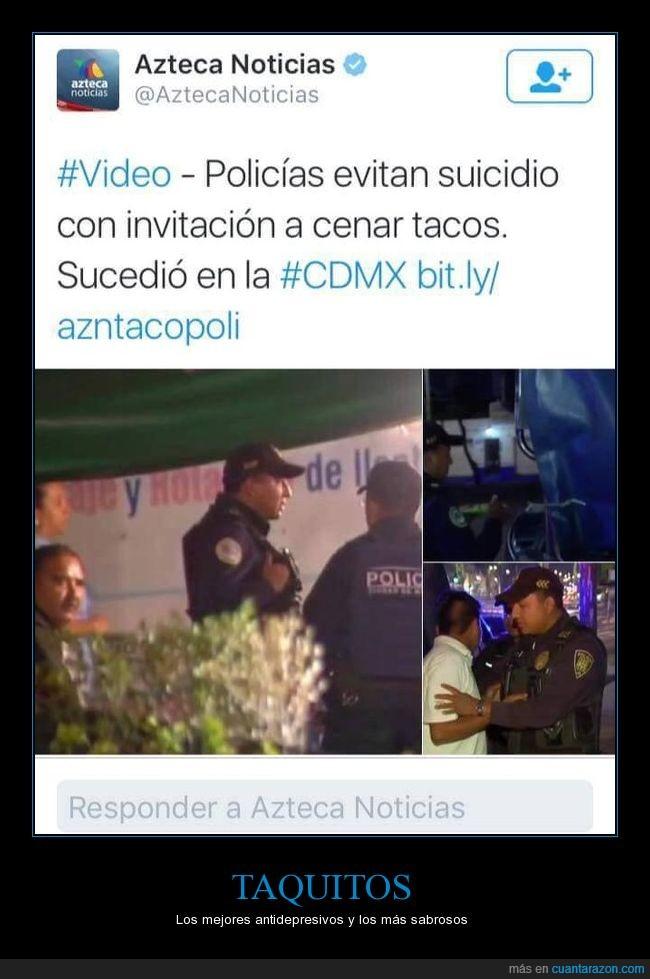 CDMX,Policía,Suicidio,Taco