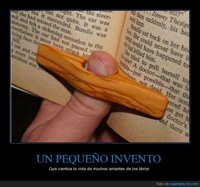 cambiar,dedo,invento,leer,madera