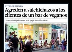 Enlace a Agreden a salchichazos a los clientes de un bar de veganos