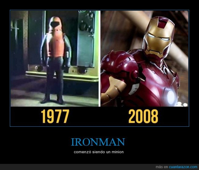 antes y despues,ironman,minion