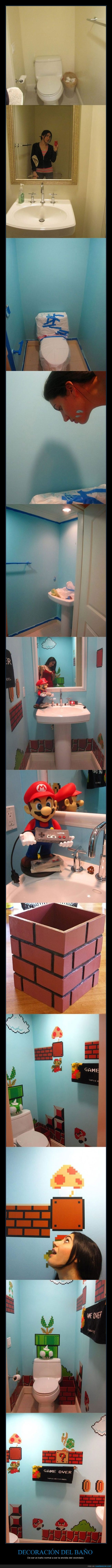 baño,decorar,goomba,increible,monedas,super mario