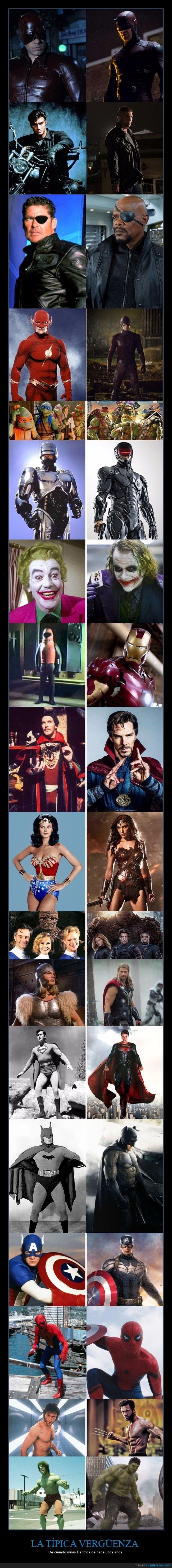 80,comparativa,oldschool,superhéroes