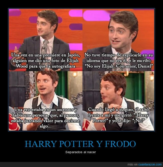 daniel radcliffe,elijah wood,harry potter,iguales,parecidos
