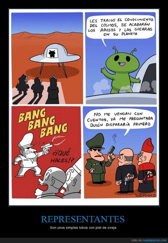 disparar,extraterrestre,Guerra,paz