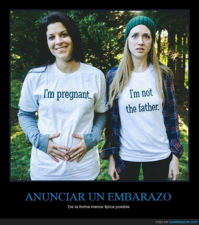 camisetas,embarazo,i'm not the father,lesbianas,pregnant