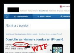 Enlace a ¿QUERÉIS UN iPhone 6 GRATIS? Banco español los REGALA cumpliendo sólo 1 REQUISITO
