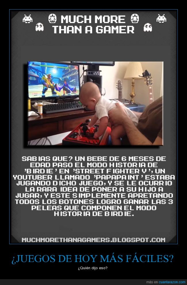 Bebe,Curiosidad,Much more than a gamer,Street Fighterr V