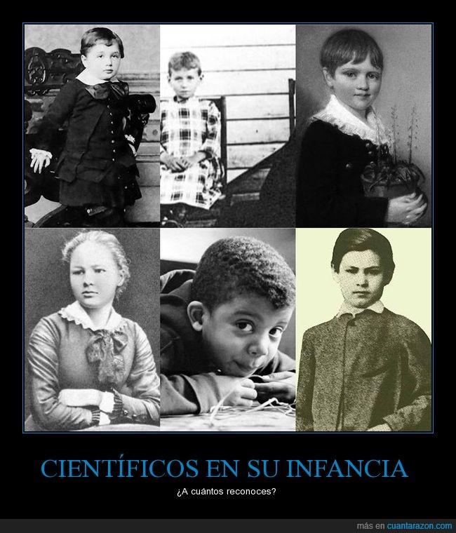 Albert Einstein,Charles Darwin,cientificos,Marie Curie,Neil De Grasse Tyson,Nikola Tesla,niños,Sigmund Freud