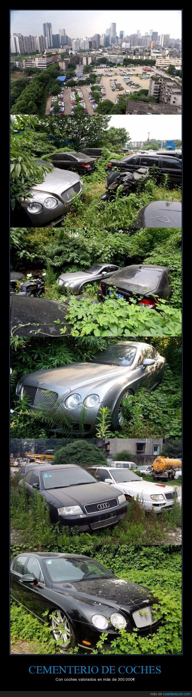 abandonados,cementerio,coches