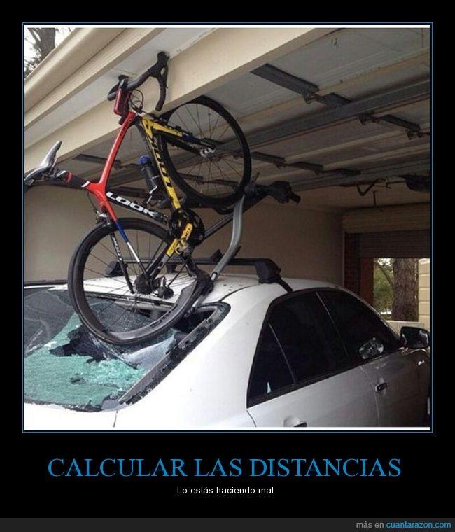 bici,coche,parking,romper,techo