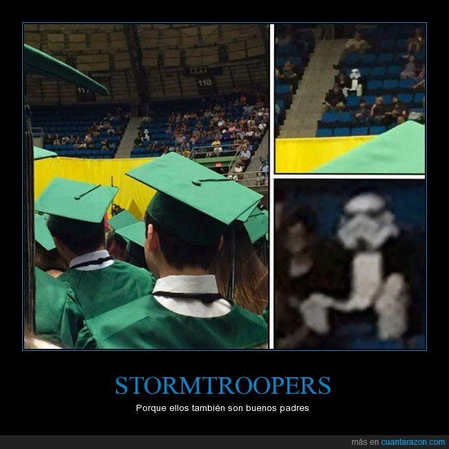 bueno,graduación,padre,stormtrooper