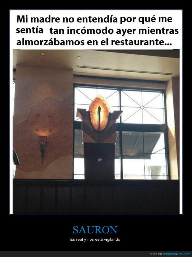 comida,lotr,restaurante,sauron,vigilar
