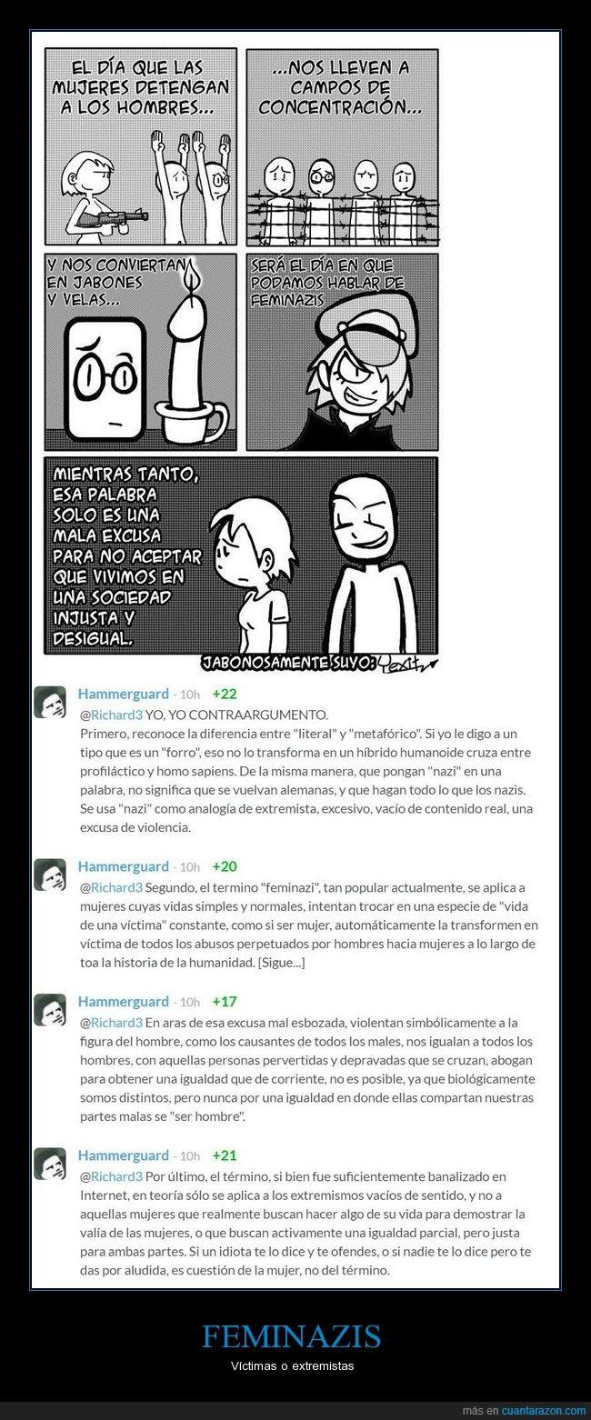 feminazi,feminazis,feminismo,nazis,violencia,violencia de genero