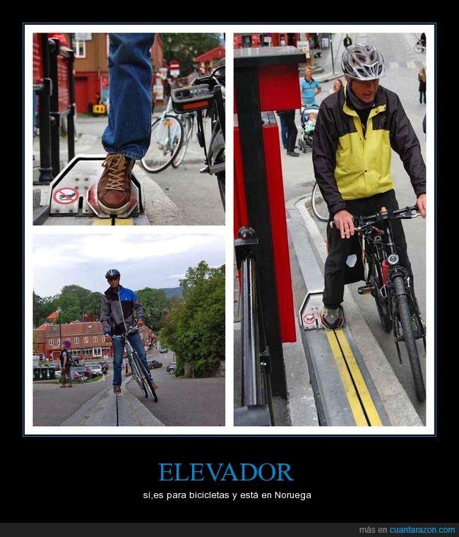 bicicleta,elevador,noruega