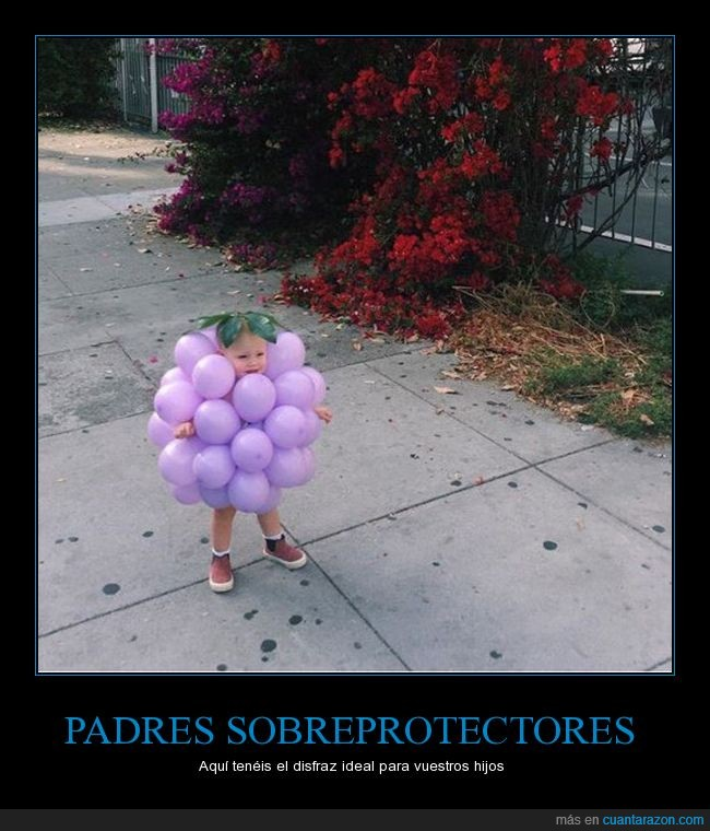 disfraz,niña,uva