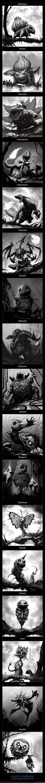 creepy,ilustraciones,pokémon