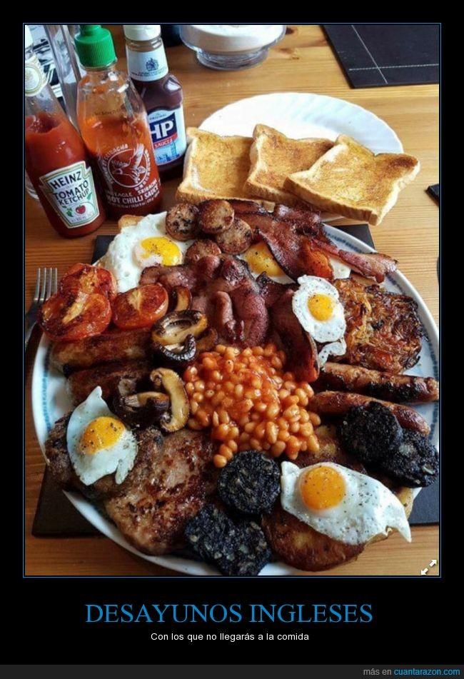 Desayuno,english breakfast,Inglaterra,inglés,por el infarto que te va a dar,que no vas a llegar