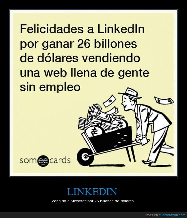 empleo,linkedin,microsoft,mucho dinero,red social