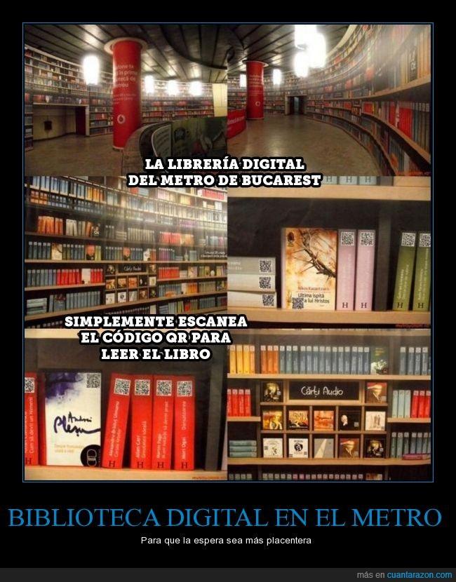 biblioteca,bucarest,códigos,digital,metro,QR