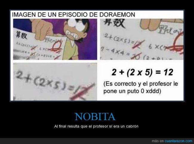 doraemon,examen,nobita,notas,profesor