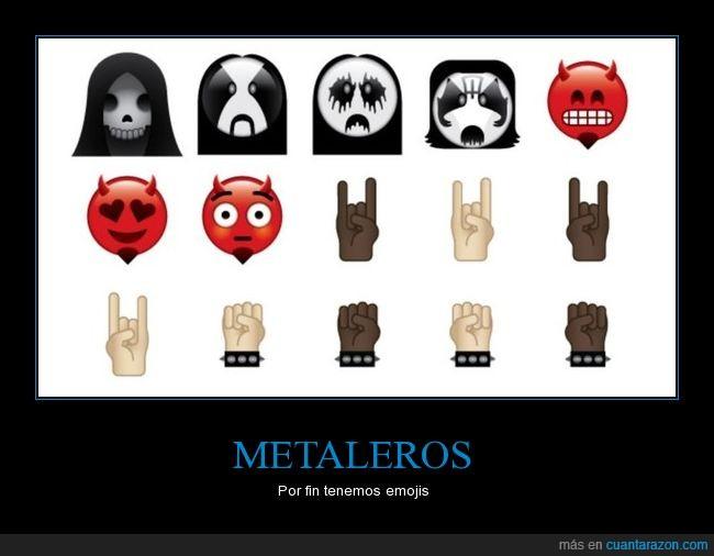 emoji,heavy metal,metaleros